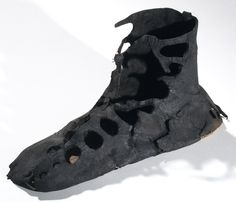 ~ Roman shoe or calceus of leather. Place of origin: Roman site at Newstead Date: Late - early century (ca. Roman Clothes, All Black Sneakers, Sneakers Nike, Viking Age, Iron Age, Ancient Artifacts, Ancient Rome, National Museum, Walking Shoes