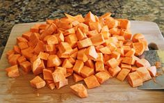 """Friends, prepare yourself to be coerced, convinced, pled with and tremendously """"talked into"""" making this heavenly Roasted Sweet Potatoes. I cannot say enough good things about them, ser… Sugar Free Recipes, Gf Recipes, Side Dish Recipes, Potato Recipes, Vegetable Recipes, Fall Recipes, Great Recipes, Cooking Recipes, Favorite Recipes"""