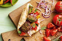 These falafel pita pockets have an easy 'peas'y twist.