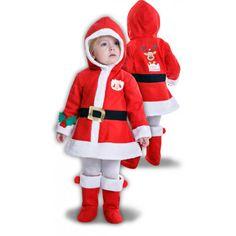 Disfraz de Mamá Noel para Niña #Costume #Navidad #Bebe #Mama #Noel