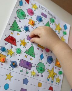 I SPY Printable for Kids: Shapes | School Time Snippets