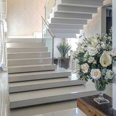 Concrete Stairs Exterior Staircases 60 Ideas For 2019 Home Stairs Design, Railing Design, Interior Stairs, Modern House Design, Home Interior Design, Interior And Exterior, House Staircase, Staircase Railings, Stairways
