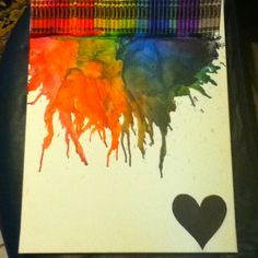 Melted crayon project!