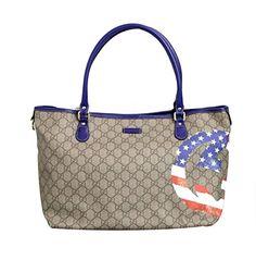 21a9074873d GUCCI Gucci Coated Canvas Flag Handbag Tote Bag 203693.  gucci  bags   leather