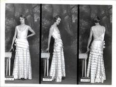 """Exposition """"1931 face-dos-profil"""" : Robe du soir Paquin (août 1931)."""