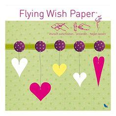 Flying Wish Paper ist das fliegende Wunschpapier für magische Momente auf Partys, Geburtstagen, zu Weihnachten oder zu Silvester Einfach Wunsch aufschreiben, anzünden, fliegenlassen.