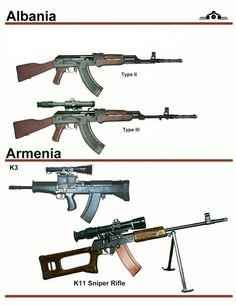 Albanian Type 2 and 3 AK. Weapons Guns, Airsoft Guns, Guns And Ammo, Future Weapons, Weapon Concept Art, Hunting Guns, Assault Rifle, Military Weapons, War Machine