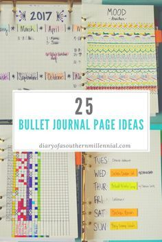 25 Bullet Journal Page Ideas. Whether you have a bullet journal or a bullet planner, here are 25 ideas that are sure to fill it!