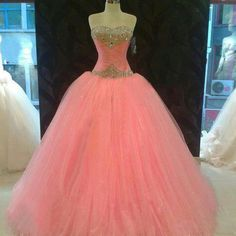 Pretty n pink ball gown