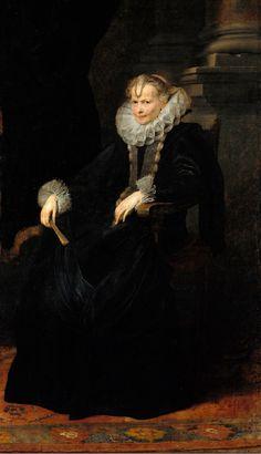 Portrait of a Genovese Lady (around 1621) Anton van Dyck   Gemäldegalerie, Staatliche Museen zu Berlin