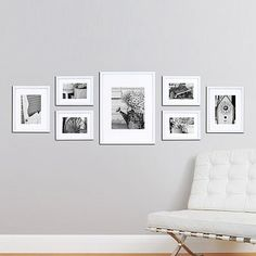 "Frame collage - four 8""H x 6""W frames (each holds one 4"" x 6"" photo), two 8""H x…"
