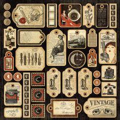 Communique, Die-cut Tag Sheet | graphic 45: communiqué | Pinterest
