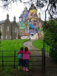 Graffiti Art on Medieval Walls Kelburn Castle Scotland Ego Breed