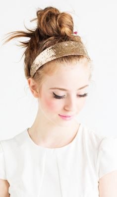 Add some sparkle to your day with a big shot of glitter headband