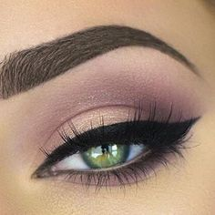 Pink smokey eye with perfect brows.