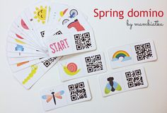 Spring Domino  Game for kids to practice spring vocabulary