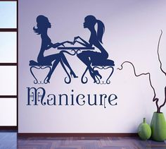 Wall Decal Nail Salon Manicure Manicurist Beauty Salon Day Spa Design Nail Art Vinyl Sticker Home Decor Hairdresser Hairstyle Barbers Dear Buyers, Welcome to Decal Store Vienna!  *********************Color********************** Please choose 1 color from our color chart, otherwise the decal will be shipped in BLACK. If you are using PayPal, you can provide the color you want by putting it in the PayPal message box when you are paying for the item…