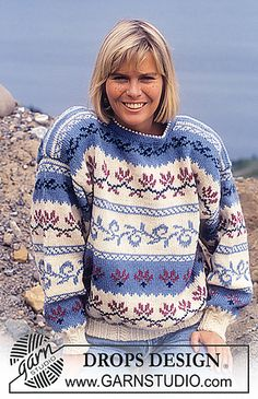 Ravelry: 23-2 Jumper with pattern borders pattern by DROPS design