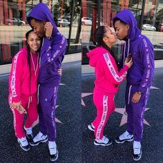 Cute Black Couples, Black Couples Goals, Cute Couples Goals, Best Friend Outfits, Best Friend Goals, Matching Couple Outfits, Matching Couples, Couple Goals Tumblr, Couple Goals Cuddling
