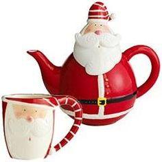 Santa Claus Teapot Set | #christmas #xmas #holiday #decorating #decor
