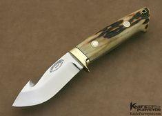Bob Loveless Custom Knife Lawndale Stag Guthook Skinner