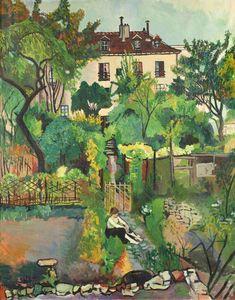 Le jardin de la Rue Cortot (Montmartre 1916) - Suzanne Valadon, French Artist (1865-1938) Maurice Utrillo, Parcs, Global Art, French Artists, Art Market, Land Scape, Les Oeuvres, Home Art, Art History