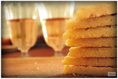 Shortbreads and glass of rose on a very rainy Saturday's afternoon