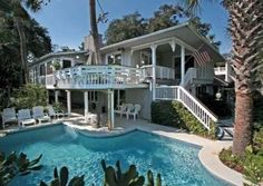 Hilton Head Island 6 br Ocean View Vacation Rental Home: 'Almost' Oceanfront 2nd Row Oceanview House-Redecorated 2012