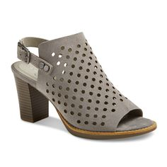 Take your warm-weather looks to stylish new heights with these Women's Mountain Sole Graeme Perforated Open Toe Block Heel Sandals. Perforated details bring striking dimension to these open-toe women's sandals.