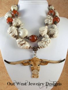 RESERVED LISTING Western Statement Necklace Set  by Outwestjewelry