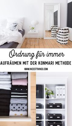 KonMari Methode: Magic Cleaning, Aufräumen nach Marie Kondo - Diy Home Crafts Diy Home Cleaning, Cleaning Tips, Bedroom Cleaning, Interior Design Kitchen, Interior Design Living Room, Diy Home Crafts, Diy Home Decor, Marie Kondo Konmari, Konmari Methode