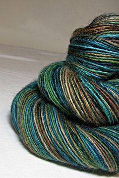 Handspun Yarn Gently Thick and Thin Worsted by SheepingBeauty, $34.00
