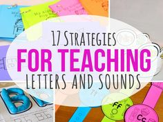 17 Strategies for Teaching Letters and Sounds {Education to the Core}