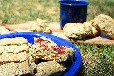 Wattle Seed Damper - make it cups of milk or buttermilk instead Dog Food Recipes, Dessert Recipes, Desserts, Weber Q Recipes, Camping Meals, Camping Recipes, Naidoc Week, Picnic, Bbq