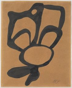 Jean Arp, Abstract Form I (c. 1922), Ink on paper, 10 1/4 × 8 1/4 in