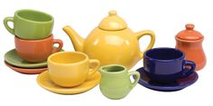 Children's Tea Set (colors may vary)