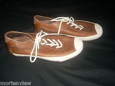PATAGONIA MENS DAWN BROWN WHITE LEATHER WALKING LACE UP SHOES SIZE 8.5