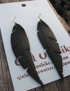 Berkeley - Upcycled Bike Tube Earrings via Etsy