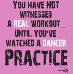 This is to the dancers who work there butts off! And ppl doubt the fact that dance is a sport and art!