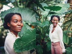 Palm Leaves, Greenhouse Washington, D.C. Portrait Photography