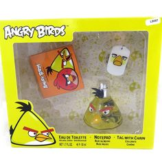 Perfume box 'Angry Birds' yellow bird (50ml). Original gift idea that perfume box 'Angry Birds' , gifts that will more than happy to make perfume alike! ! ! 50 ml bottle + book + necklace angry bird!.