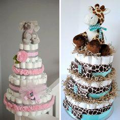 Diaper cake, ideas por a diaper cake. torta de pañales. baby shower. cha de bebe. www.demadreamadre.com.ar Encontrado en Pinterest                                                                                                                                                     Más