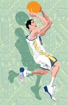 Klay Thompson '2015 NBA All-Star' Caricature Art