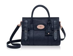 Mulberry Small Heritage Bayswater Satchel in Nightshade Blue with Rose Gold accents. So me!!