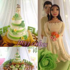 green wedding cake mint green wedding cake cake couple wedding couple handmade
