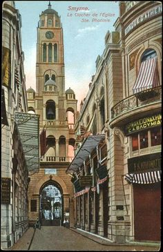 The bell tower of Agia Fotini in Smyrna. Istanbul Turkey, Vintage Photography, Alexandria, Athens, Old Photos, Greece, Places To Visit, Old Things, Tower