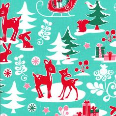 Saw this made into kids apron on the cover of Family Fun. Christmas Fabric Yule Critters by Michael Miller by neemerone, $5.50