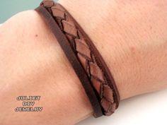 Simple leather woven zen unisex bracelet