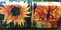 July 13 giveaway! Sunflower panel by Stephanie Brandenburg from her Daydreams II collection. #FlareFabricsTGIF.