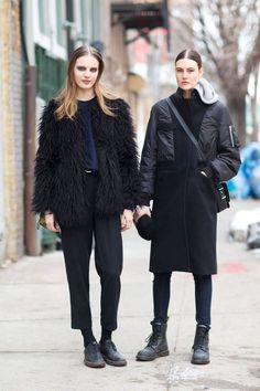 Maria Bradley and Tilda Lindstam. New York Fashion Week Fall 2014 - Harper's BAZAAR: